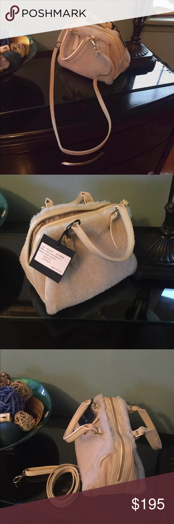 7b83ccbafd Lisa Conte Bag Real LAMBSKIN FUR bag by Lisa Conte. Made in Italy . Very  beautiful bag. New with tags . Color is like light cream. Lisa Conte Bags  Mini Bags