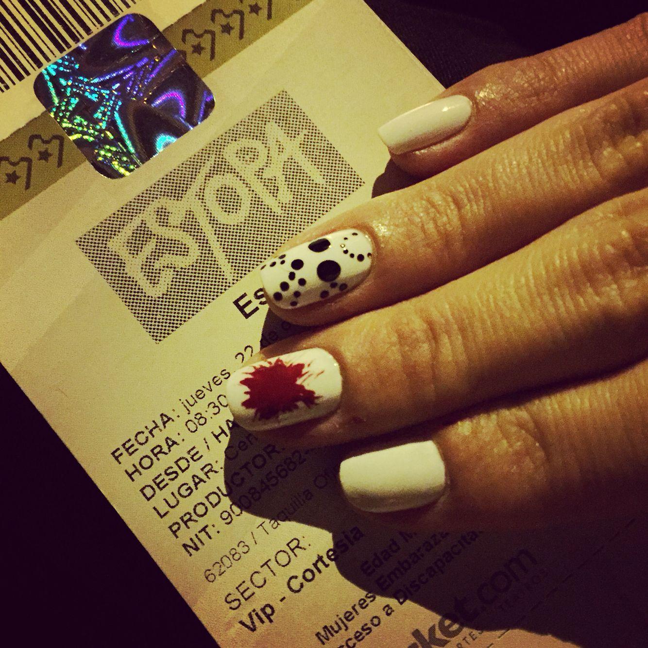 Jason halloween nails | Nails Fun | Pinterest
