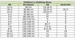 Shoe Size Chart Chinese To Us.Image Result For Chinese Children S Size Conversion Chart