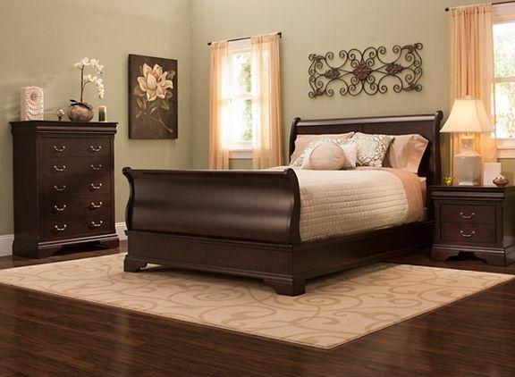 Charleston Queen Sleigh Bed Bedroom Sets Queen Bedroom Set