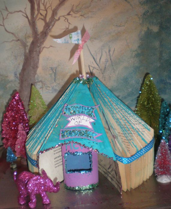 Vintage book circus tent miniature Wimby's by Sugarbirdholiday, $13.00