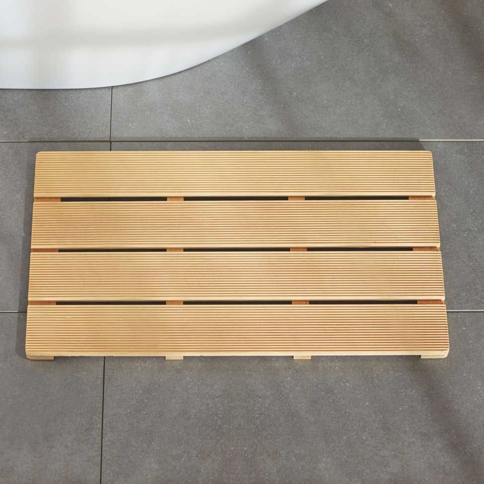 Hinoki Bath Mat VivaTerra Bath Pinterest Bath - Yellow and grey bath mat for bathroom decorating ideas