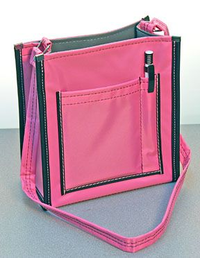 Love The Color Of This Service Bag Ms Upright Pink With Black Trim