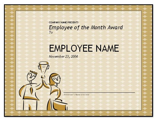 free employee the month template for recognition certificate - certificate of recognition wordings