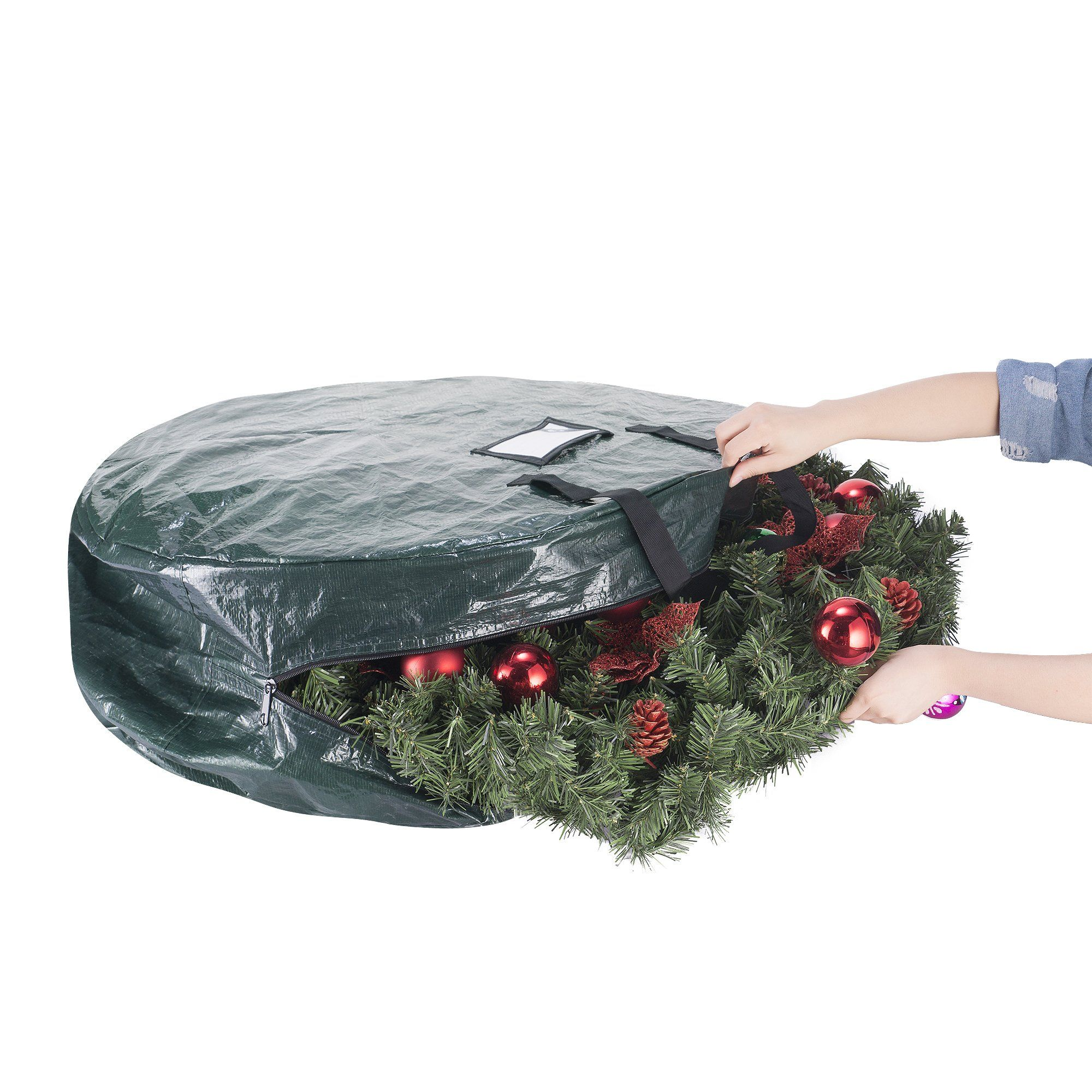 Elf Stor Deluxe Green Christmas Tree Storage Bag For 9 Foot Artificial Trees And 30 Inch Wre Christmas Tree Storage Bag Christmas Tree Storage Tree Storage Bag