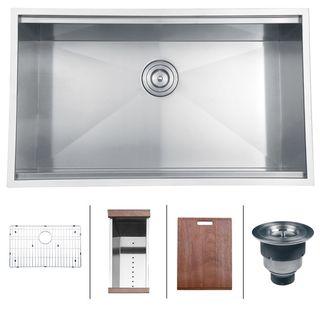 ruvati 16 gauge stainless steel 32 inch single bowl undermount kitchen sink ruvati 16 gauge stainless steel 32 inch single bowl undermount      rh   pinterest com