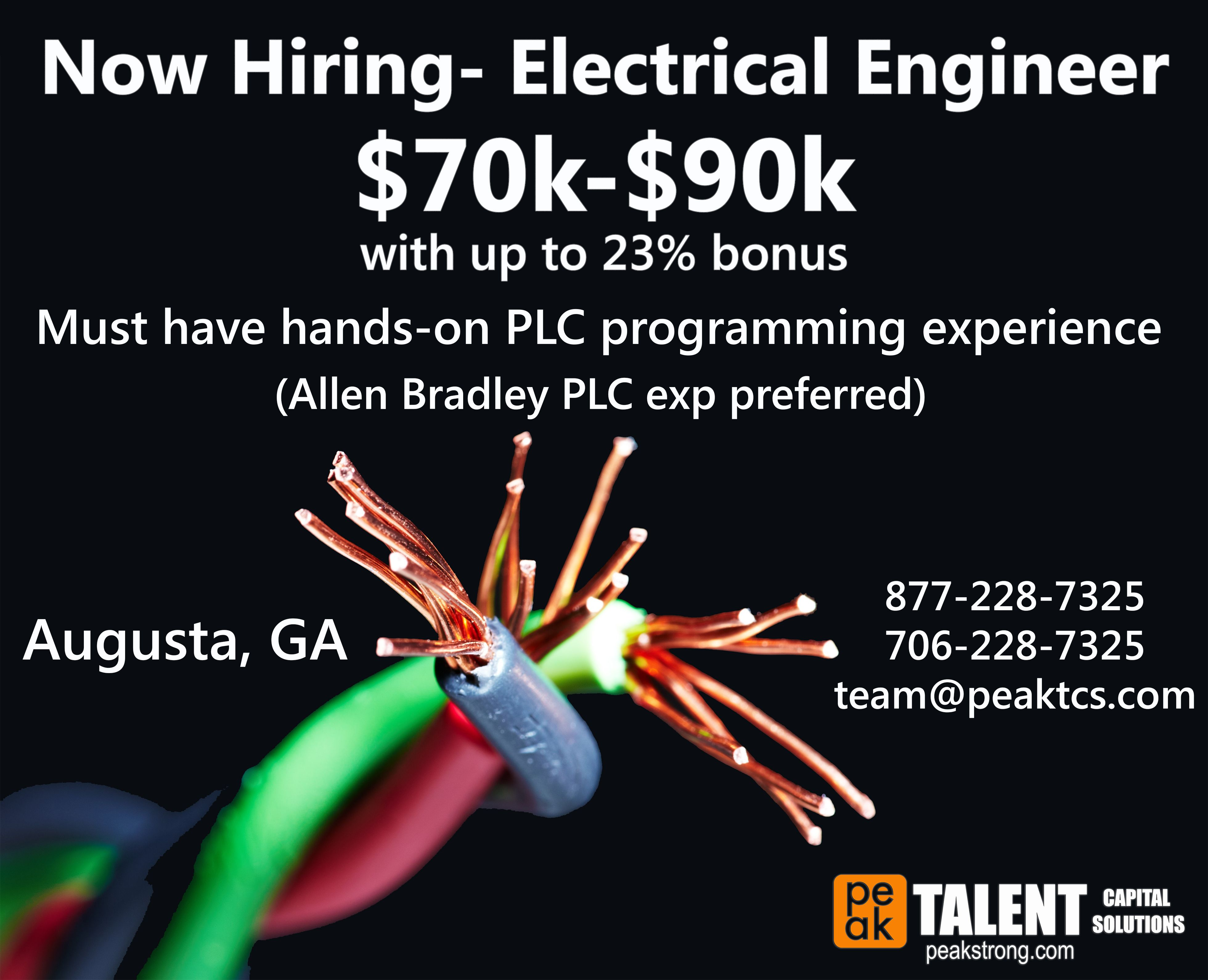 Now hiring for an electrical engineer Electrical