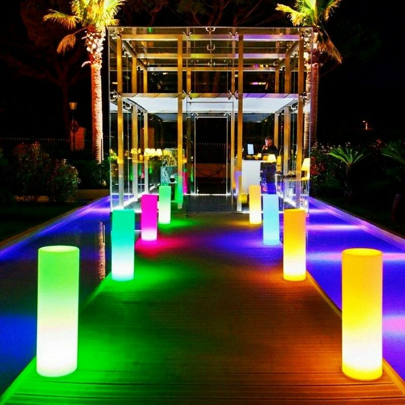 Led Pillars Make For Amazing Accent Lighting To Illuminate Walkways Paths Isles And More Brighten Outdoor Lamp Outdoor Landscape Lighting Landscape Lighting