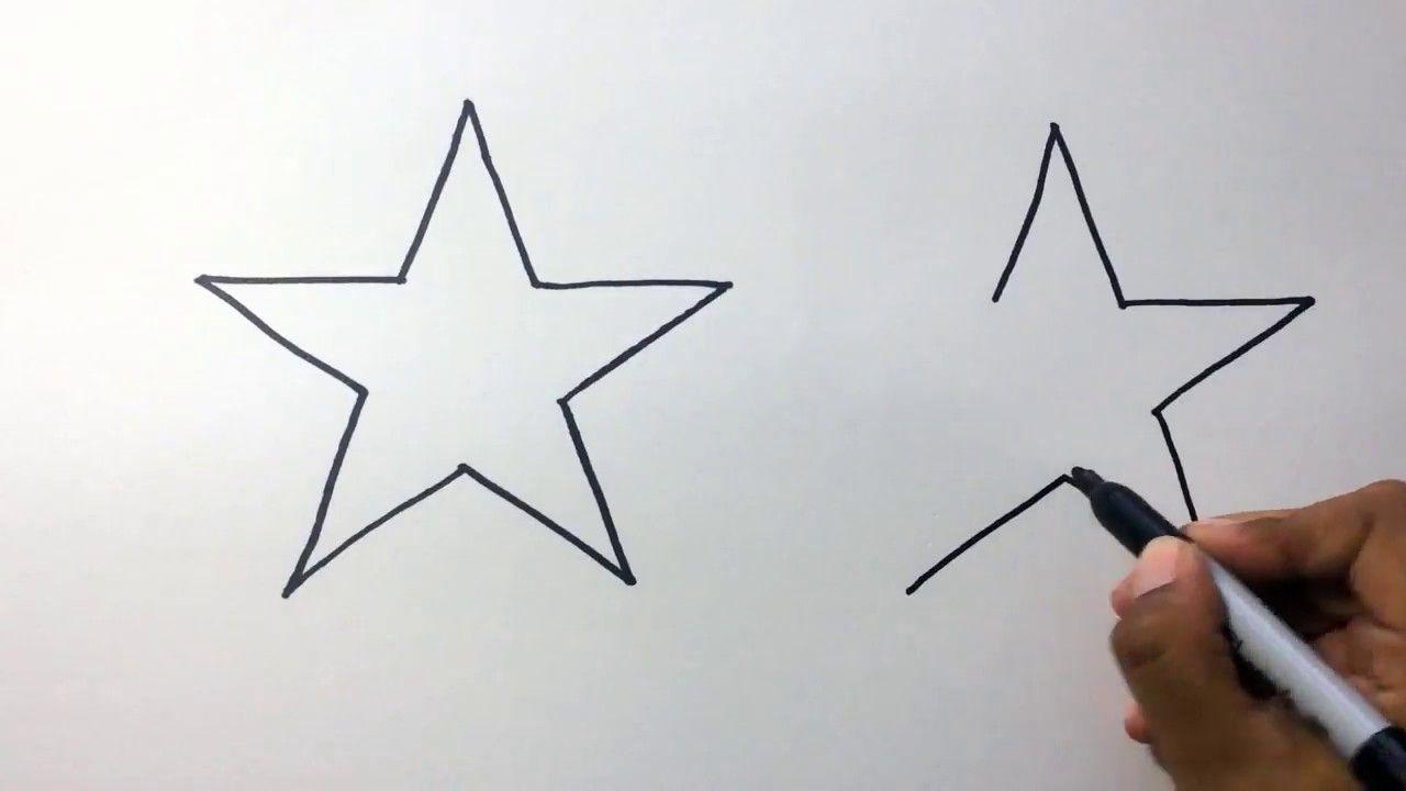Como Hacer Estrellas Facil How To Draw And Color Stars En 2020 Aprender A Dibujar Estrellas Brillantes Dibujos