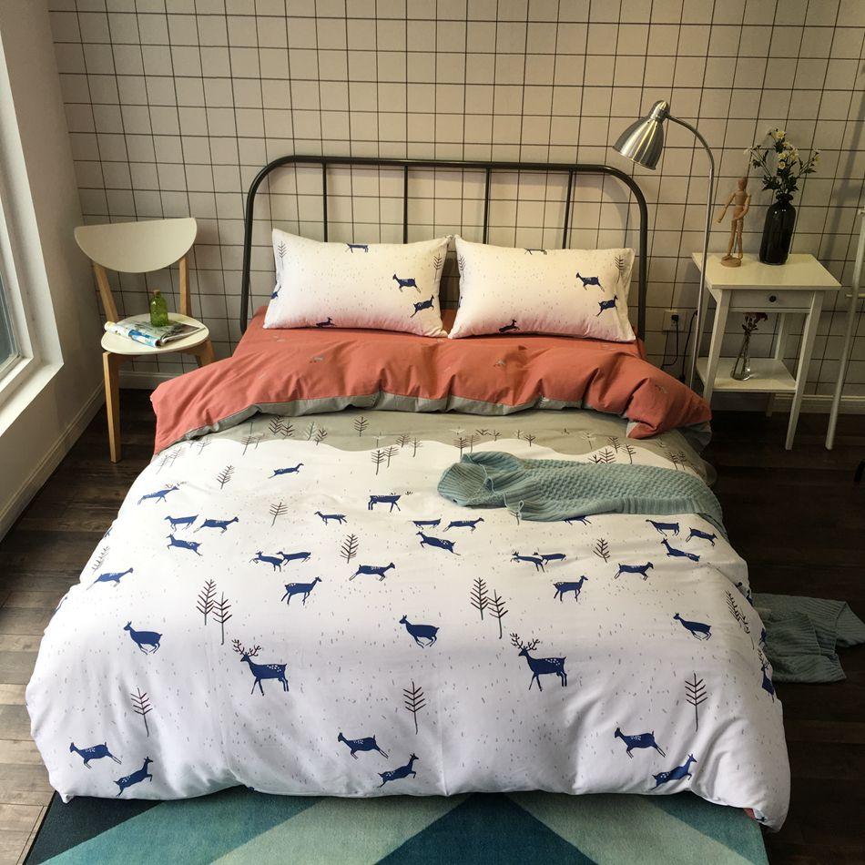 Bedroom Linen Cartoon Set Of Sheets 100 Cotton Quilt Cover Bedding Set Queen Size Modern Design Bed Clothes Pillowcase Duvetcover Home Decor Homedecorideas
