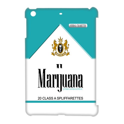Blue Menthol Marijuana Cigarette Pack Apple IPad Mini 3D Case, $19.89 #ipad #ipadmini #ipadcase #ipadcover #Marlboro #Marijuana #Cigarettes #Spliffarettes #BobMarley #Smoke