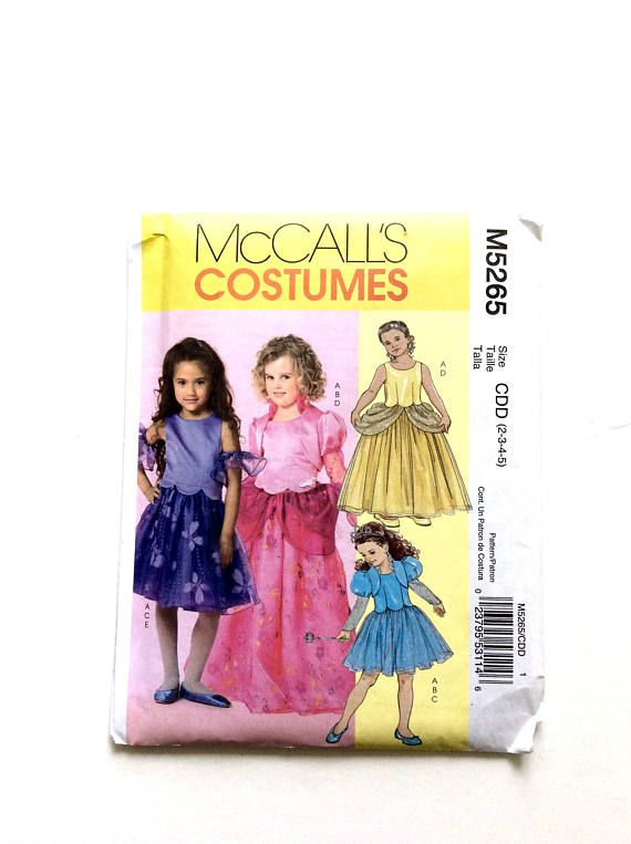 McCall\u0027s M5265 Princess Costumes Girls\u0027 Costume Pattern at Donna - princess halloween costume ideas