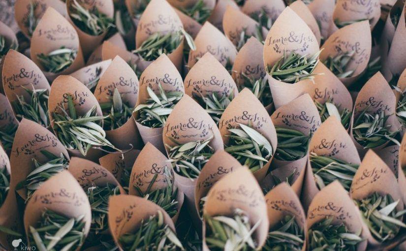 hojas de olivo boda