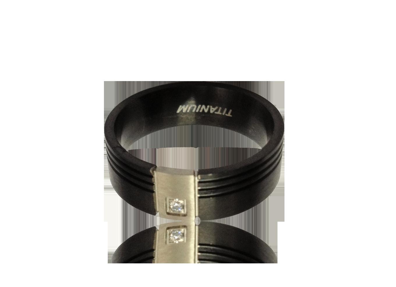 MONTECRISTO - Anel titanio black