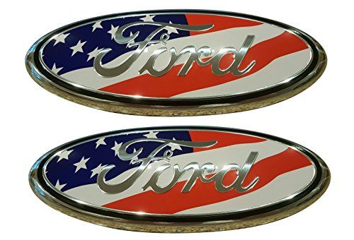 Muzzys Set Of Two Ford F150 American Flag Grille Or Tailgate