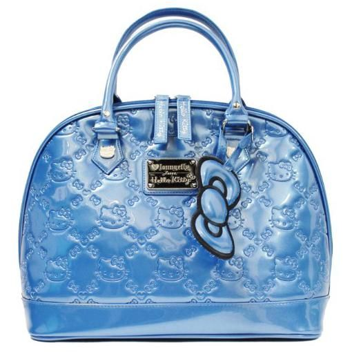 98f10c47f Loungefly Hello Kitty True Blue Patent Embossed Tote Bag for Women ...