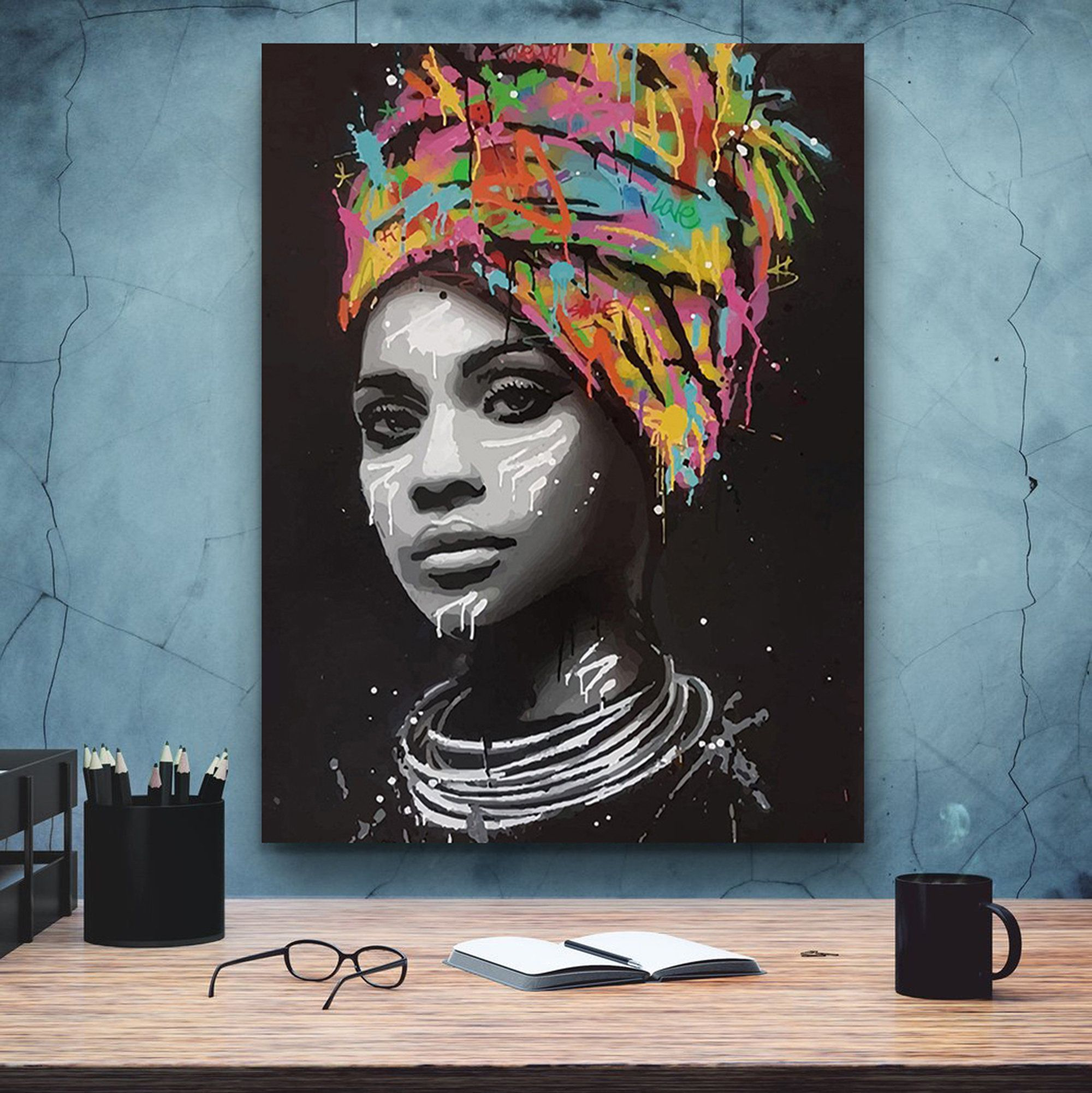 African American Woman Art2 Beauty Woman African Art Black Etsy Pop Art Canvas Modern Pop Art African Art