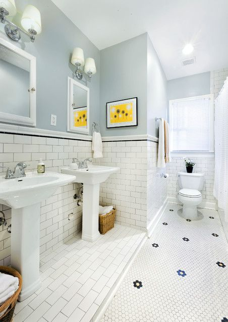 1930s bathroom updated for 21st century traditional bathroom - Updated Bathrooms Designs