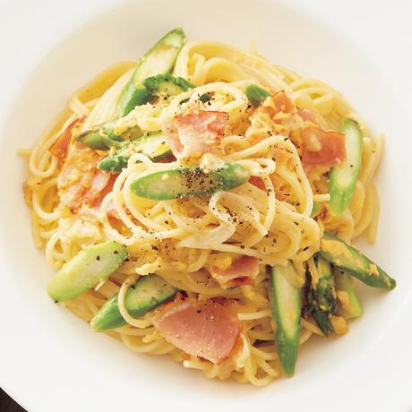 アスパラカルボナーラ | 重信初江さんのパスタの料理レシピ | プロの簡単料理レシピはレタスクラブネット