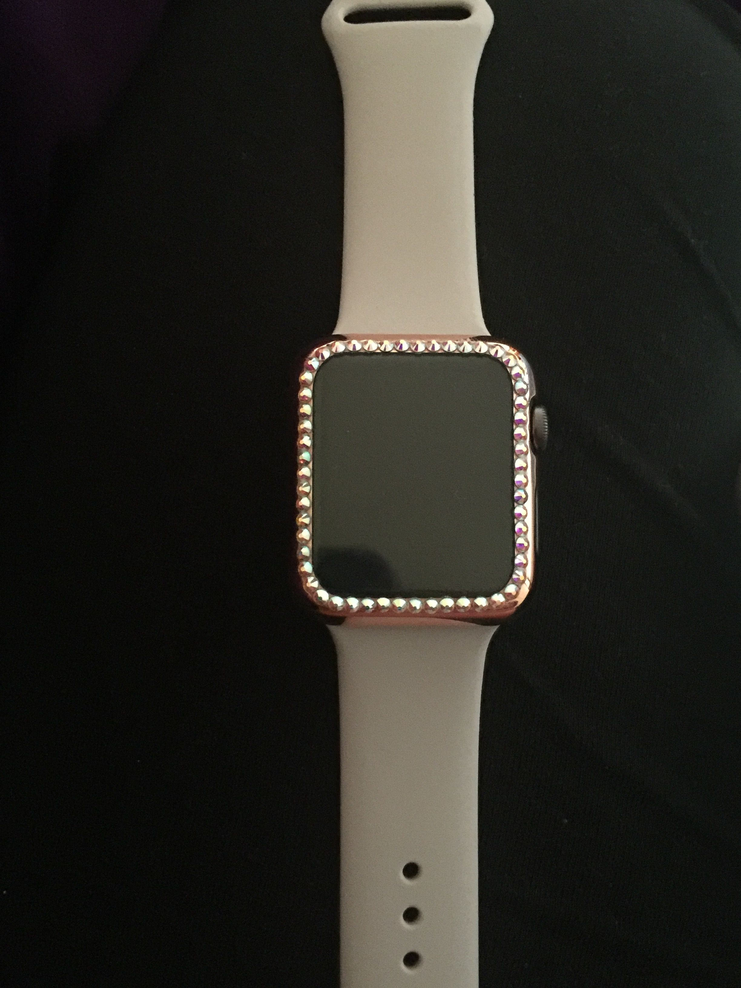 Apple Watch rose gold Etsy Swarovski crystals Rose gold