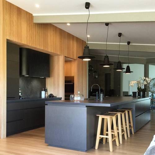 Black Zinc Sheet Metal Rangehood Kitchen Design Kitchen Zinc Sheet