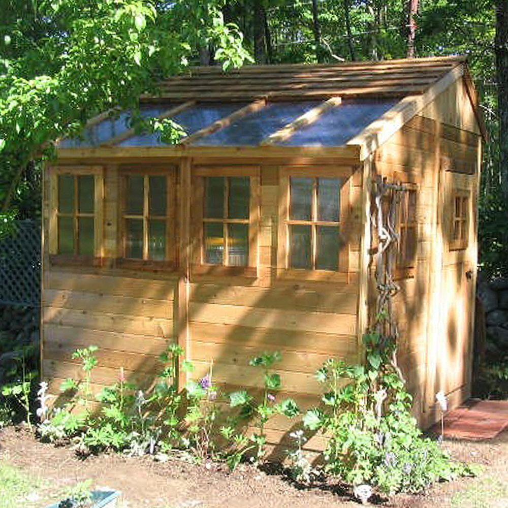 Outdoor Living Today Sunshed 8 ft. x 8 ft. Western Red Cedar Garden Shed-SSGS88 - The Home Depot