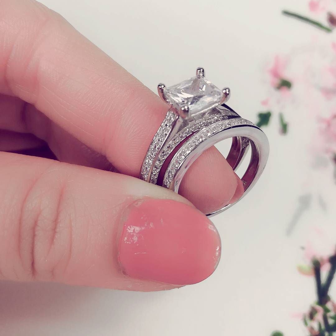 Wedding ring set bridal set #ring #wedding ring #ring set #band ring ...