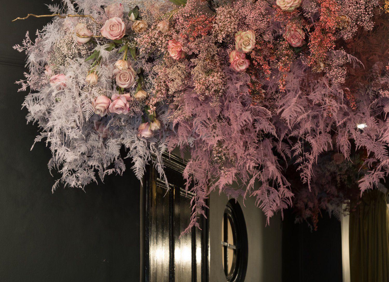 McQueens - A Romantic Installation | Flower installation ...