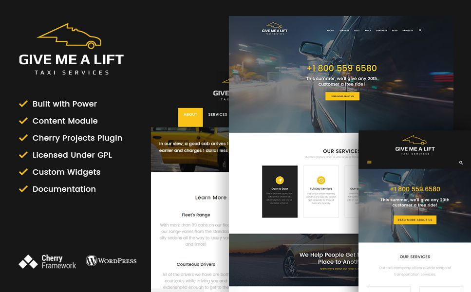 Give Me A Lift Transportation & Taxi Services WordPress