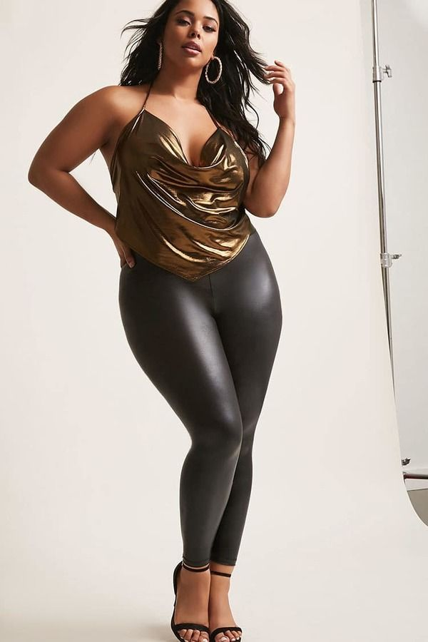 a66d506ce24  28 FOREVER 21+ Plus Size Metallic Halter Top  plussize  fashionaddict   trends  fashion  trendsetter  affilatelink