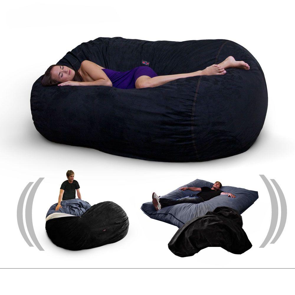 Sof cama muy c modo y econ mico cubierto con una tela - Telas para sofa ...