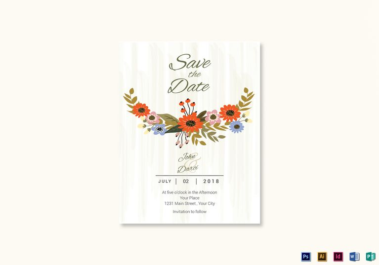 Classic Funeral Invitation Template $15 Formats Included  MS Word - ms word invitation templates