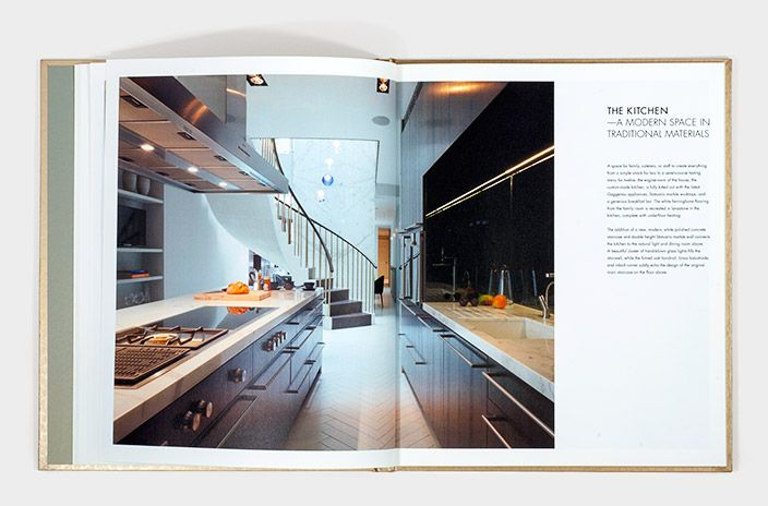 Typographic Layout And Image Detail From Luxury Brochure Design Part Of Marketing For Residential Property