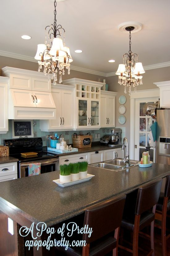 Kitchens With Gray Walls white kitchen with gray walls: benjamin moore navajo white and