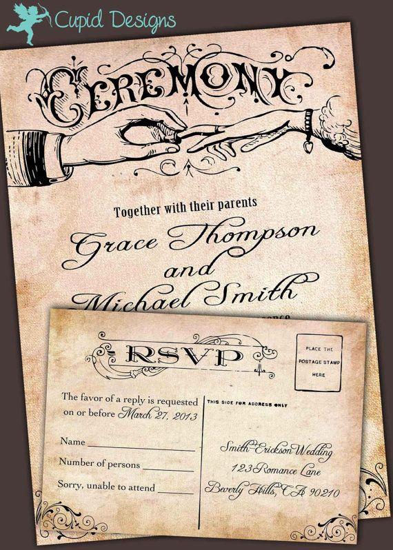 Rustic Elegant Linen Burlap Western Country Vintage Wedding invitation DIY Printable.