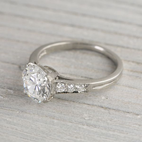 8eb79fff9 1.78 Carat Vintage Tiffany & Co. Engagement Ring - Love the style/shape of  the low setting