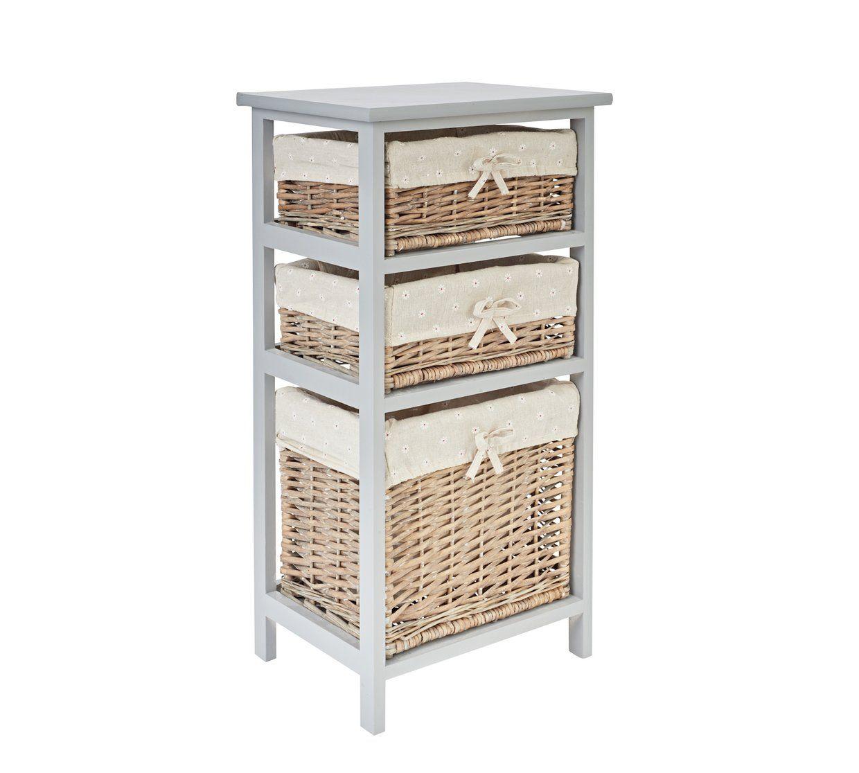 Buy Argos Home Willow 3 Drawer Storage Unit Grey Bathroom