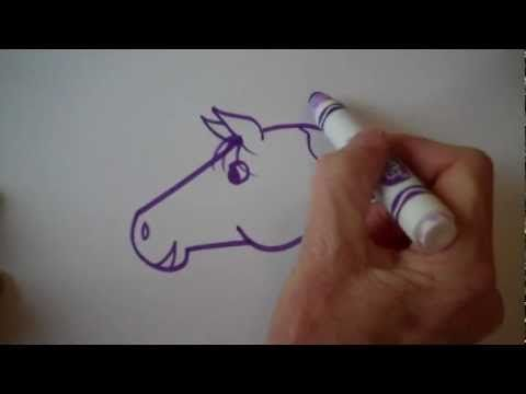 Beginners Lesson - How To Draw A Horse - YouTube