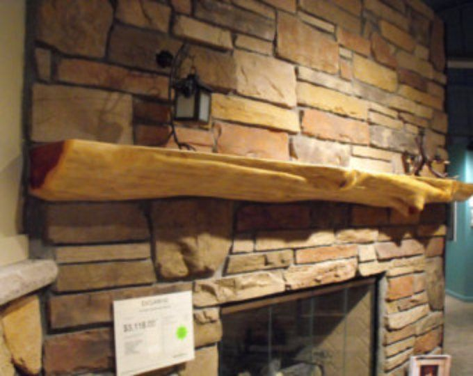 Live Edge Red Cedar Fireplace Mantels Made To Order Natural