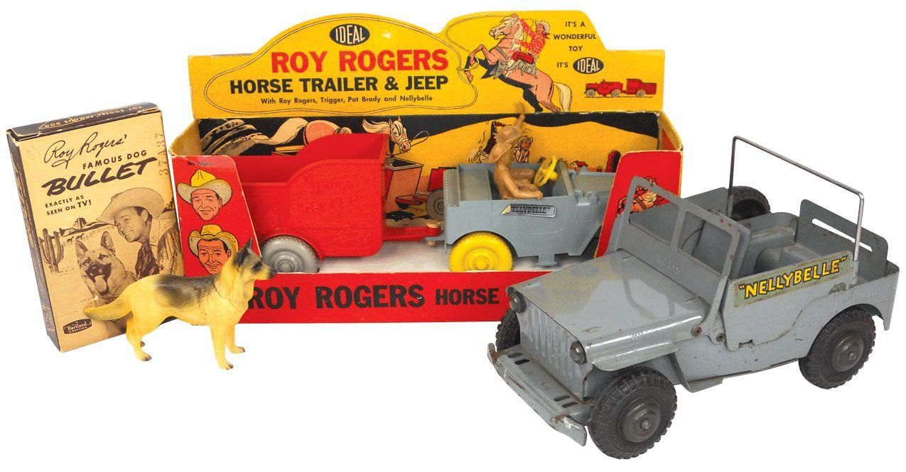 Several Roy Rogers Toys From The 1950s From Left Roy