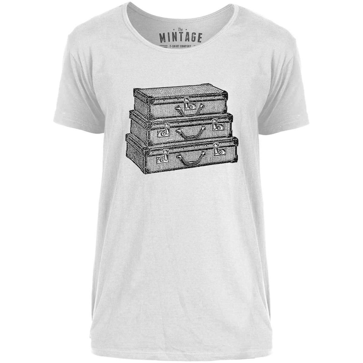Mintage Traveling Suitcases Mens Scoop Neck T-Shirt