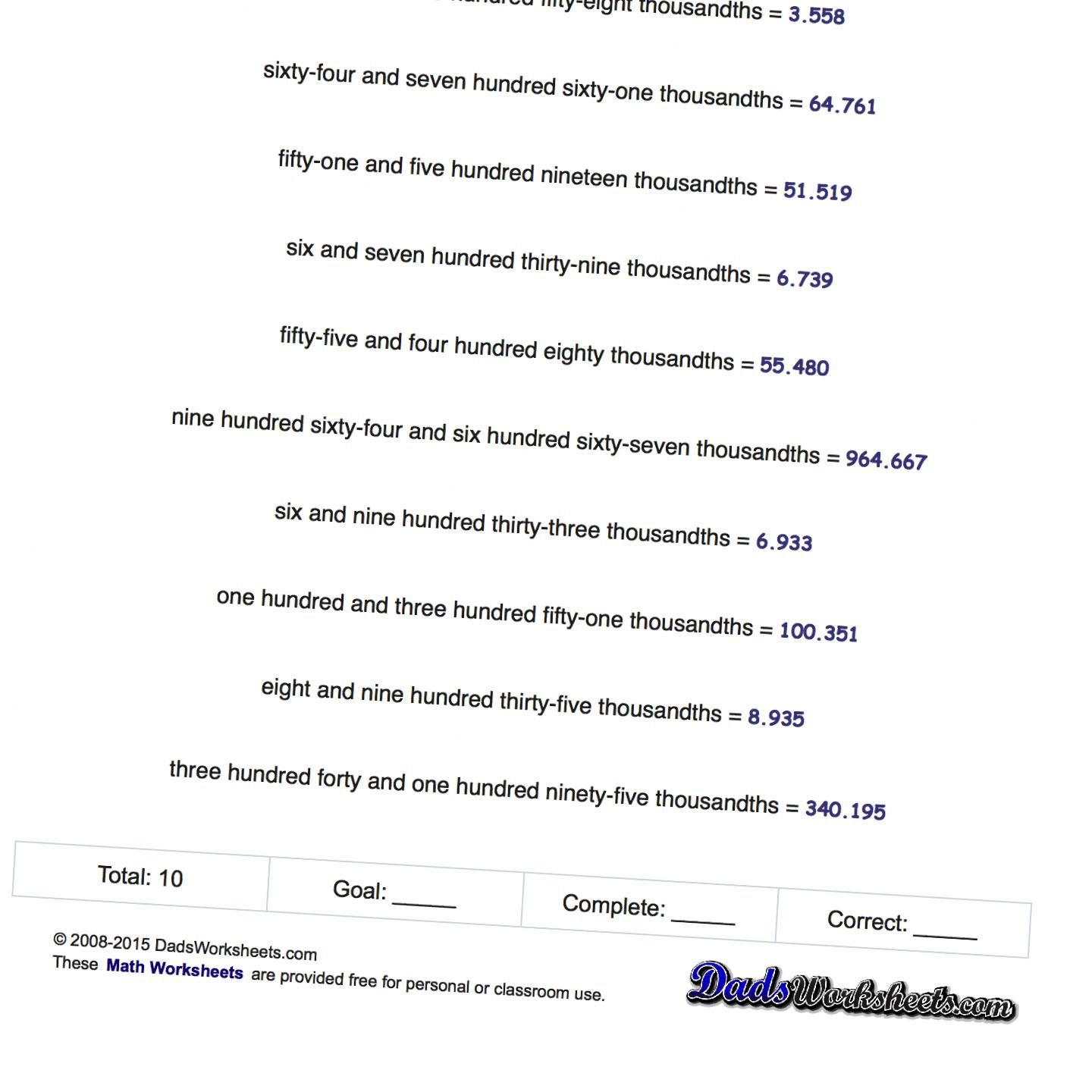 Standard Form Worksheets Can You Rewrite Numbers In Word From In