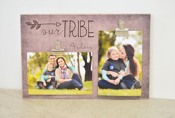 Family Photo Frame, Our Tribe Picture Frame, Personalized Gift For
