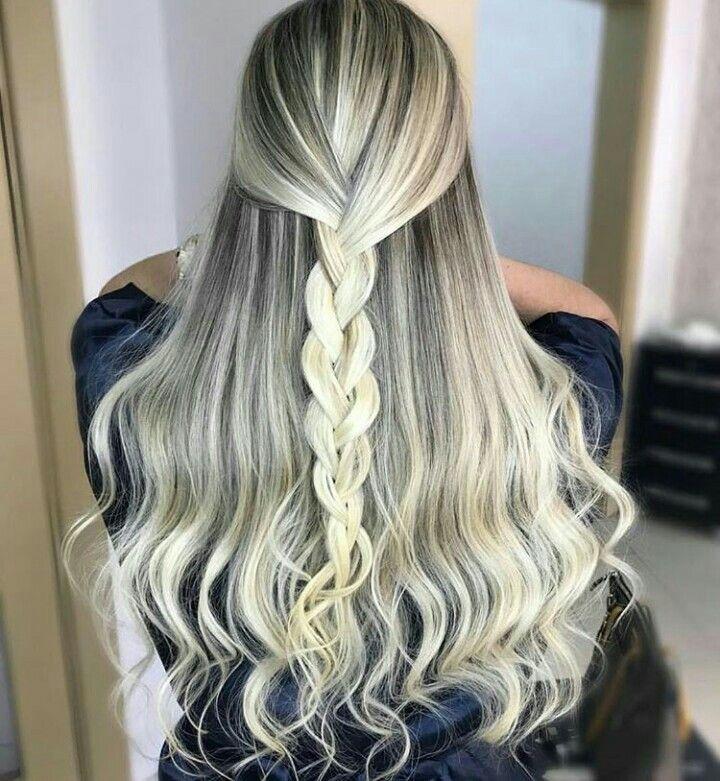 Hairstyle for girls   Penteados cabelo grande, Cabelo ...