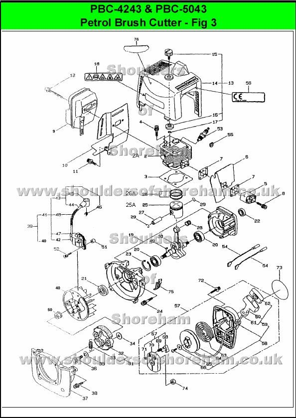 Ryobi Pbc 3046b Spare Parts Diagrams Shoulders Of Shoreham