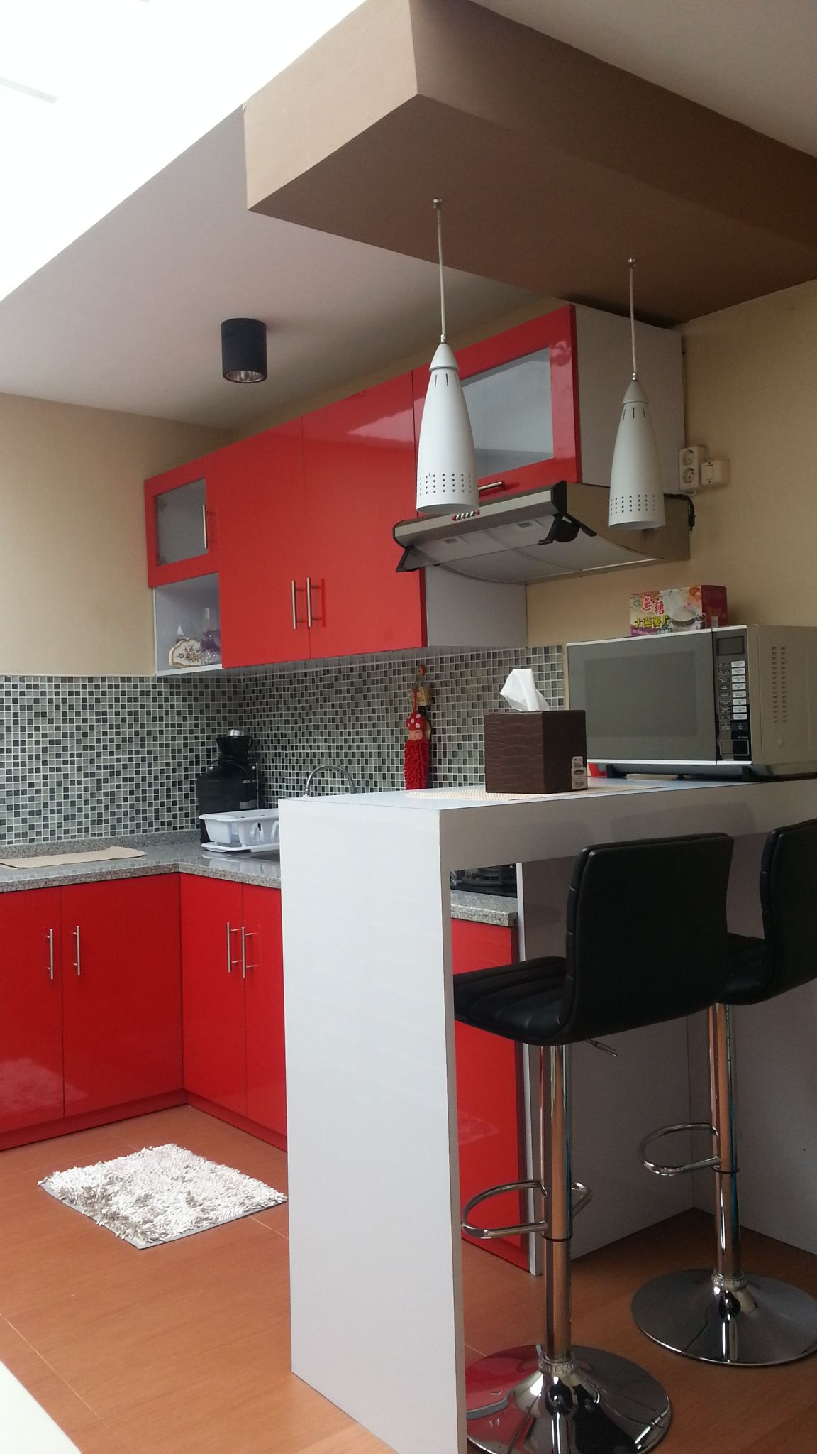 Red n White Kitchen Cabinet by Gedong Limo   Red and white ...