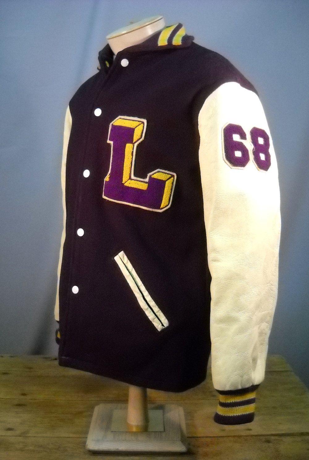 Vintage 1968 High School Letter Jacket Jackets School Wear My Style