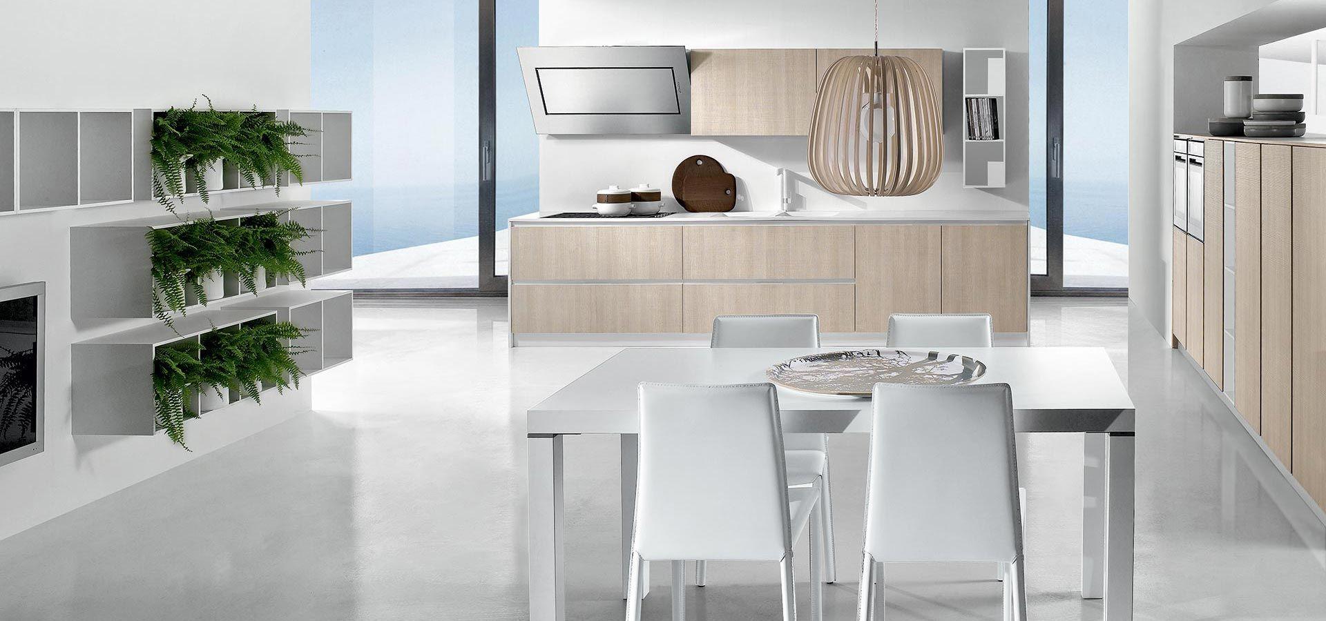 Cucina Moderna - Round Finitura tranchès rovere sabbia | Piano in ...