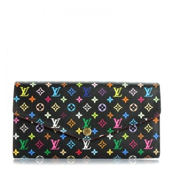 Louis Vuitton Multicolor Sarah Wallet Nm Black Grenade Liked On Polyvore Featuring Bags Wallets Louis Vuitton Multicolor Louis Vuitton Wallet Louis Vuitton