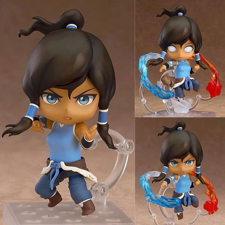 From Nickelodeons The Legend of Korra the sequel to Avatar: The Last Airbender comes a Nendoroid of the main character Korra! She has been shrunk down into cute Nendoroid size with a tough confident expression that captures her personality and charm and an alternate expression of her in the avatar state is also included! Korra can be displayed with her feet firmly grounded preparing herself for a battle or instead jumping through the air with special water earth fire and air bending effect…